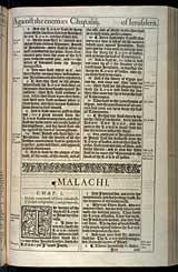 Malachi Chapter 1, Original 1611 KJV