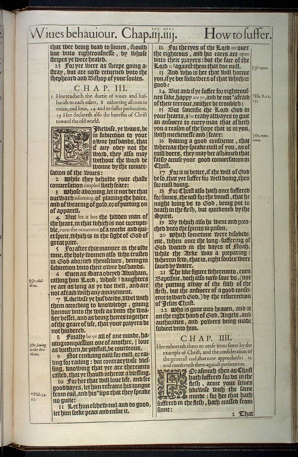 1 Peter Chapter 3 Original 1611 Bible Scan