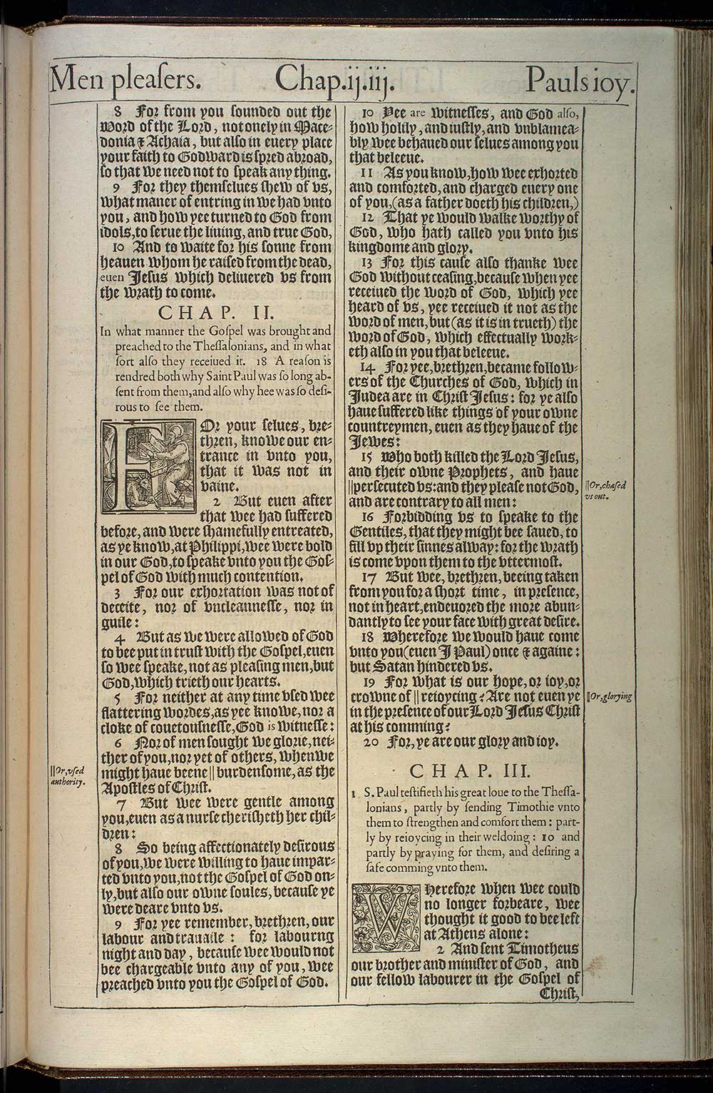 1 Thessalonians Chapter 3 Original 1611 Bible Scan
