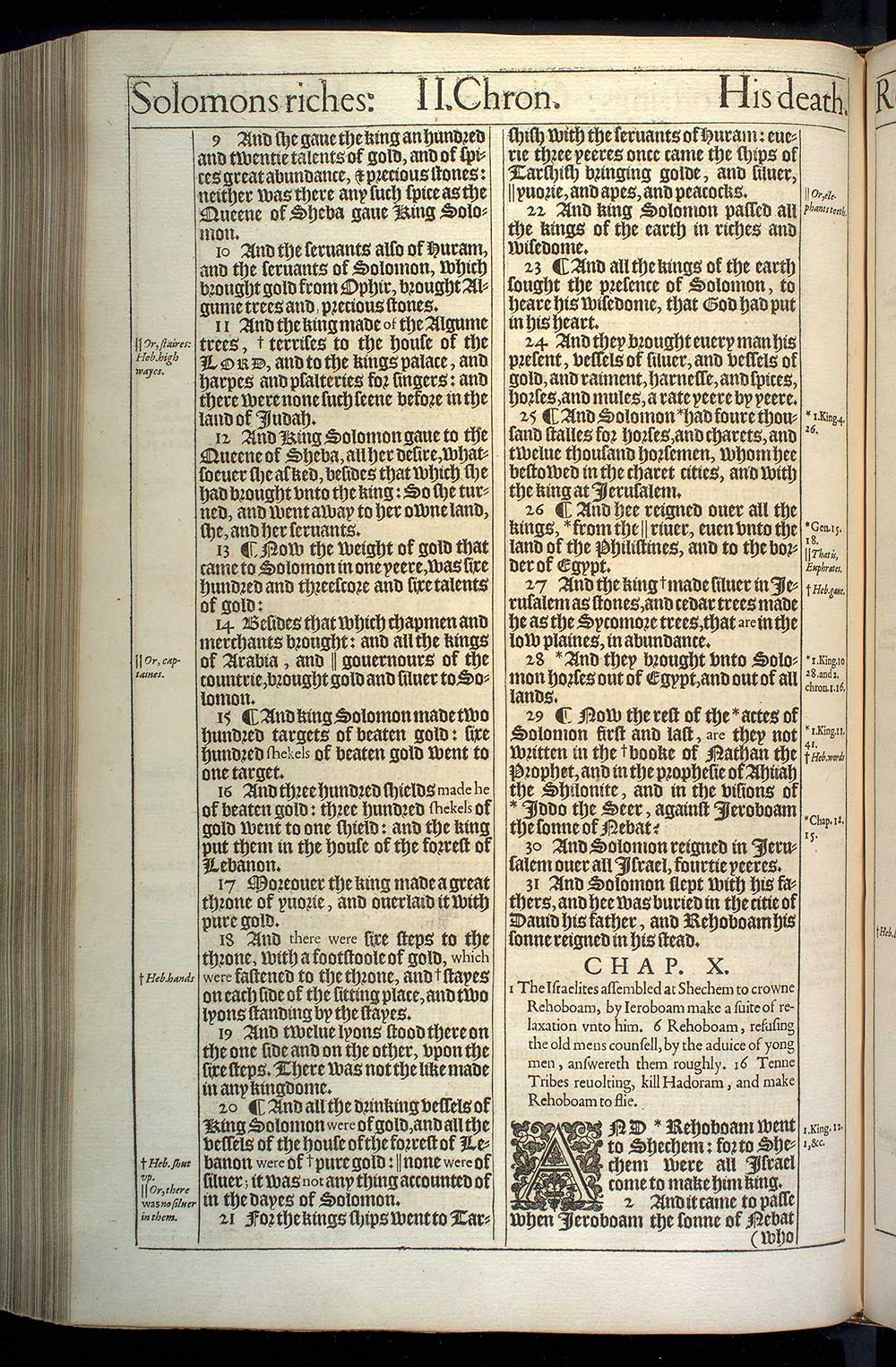 2 Chronicles Chapter 10 Original 1611 Bible Scan
