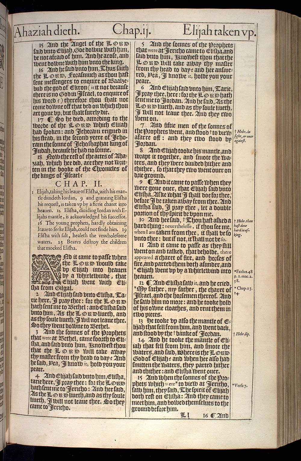2 Kings Chapter 1 Original 1611 Bible Scan