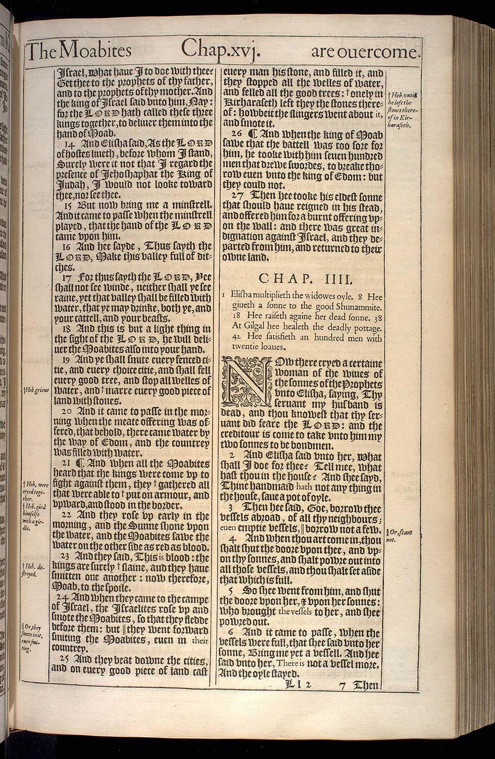 2 Kings Chapter 4 Original 1611 Bible Scan