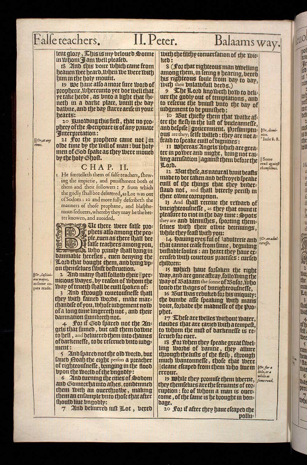 2 Peter Chapter 2 Original 1611 Bible Scan