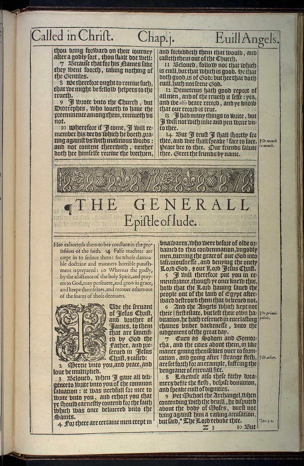3 John Chapter 1 Original 1611 Bible Scan