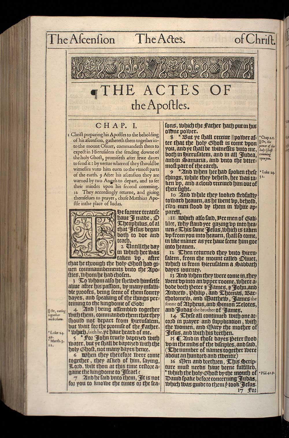 Acts Chapter 1 Original 1611 Bible Scan