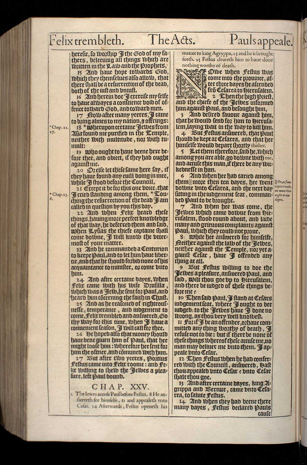 Acts Chapter 24 Original 1611 Bible Scan