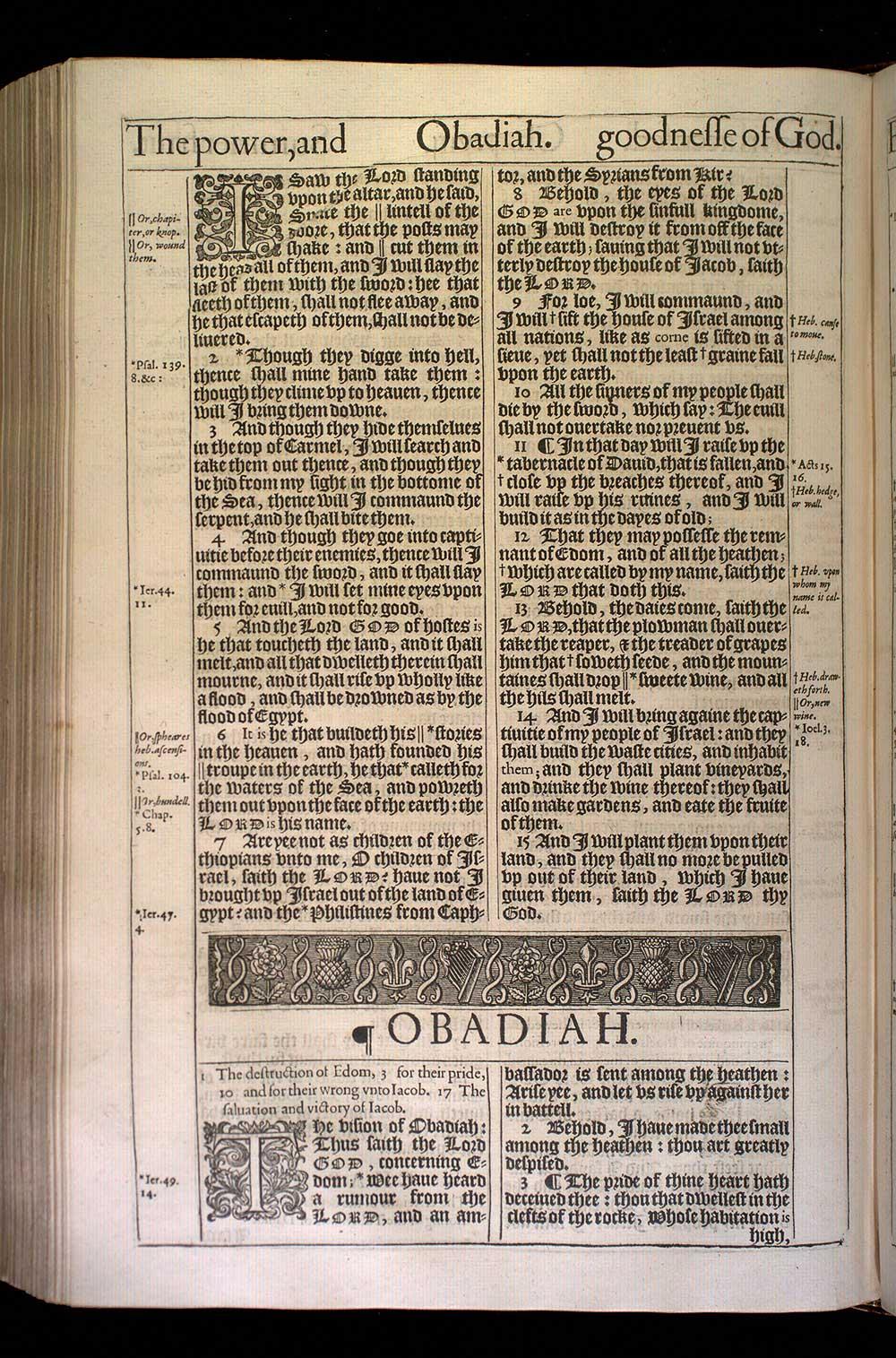Amos Chapter 9 Original 1611 Bible Scan