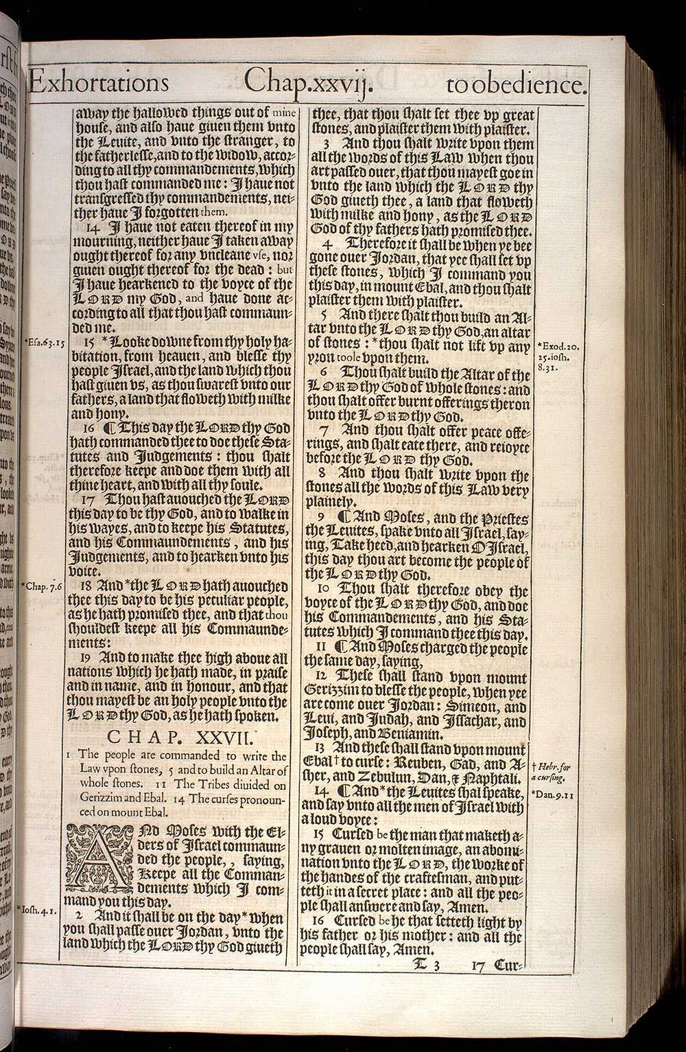 Deuteronomy Chapter 27 Original 1611 Bible Scan