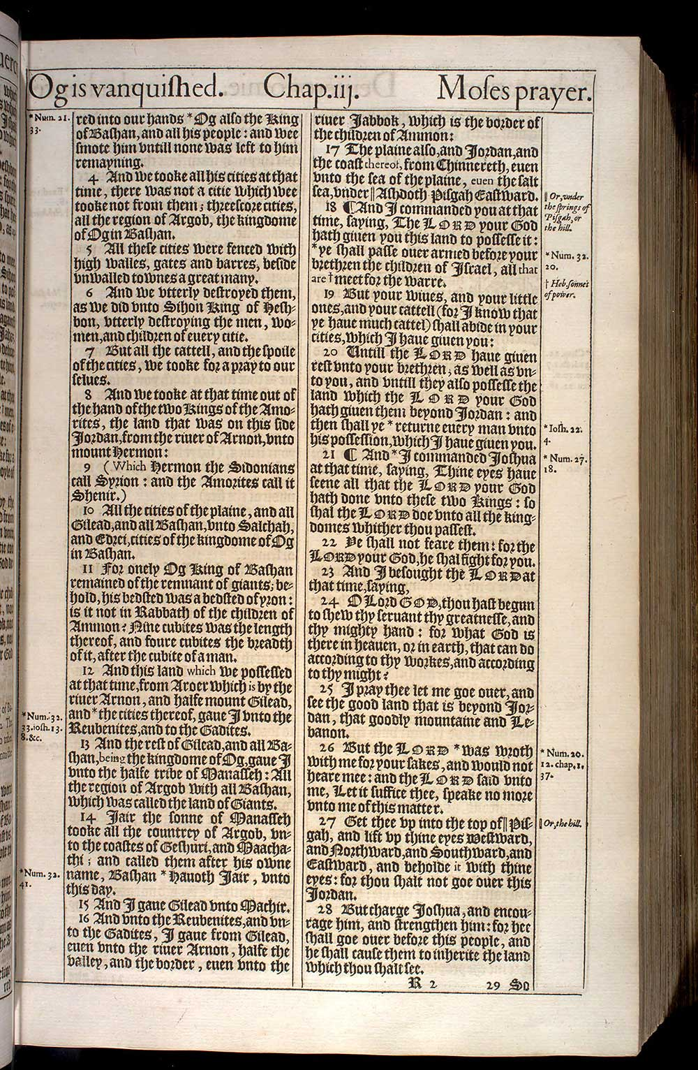 Deuteronomy Chapter 3 Original 1611 Bible Scan