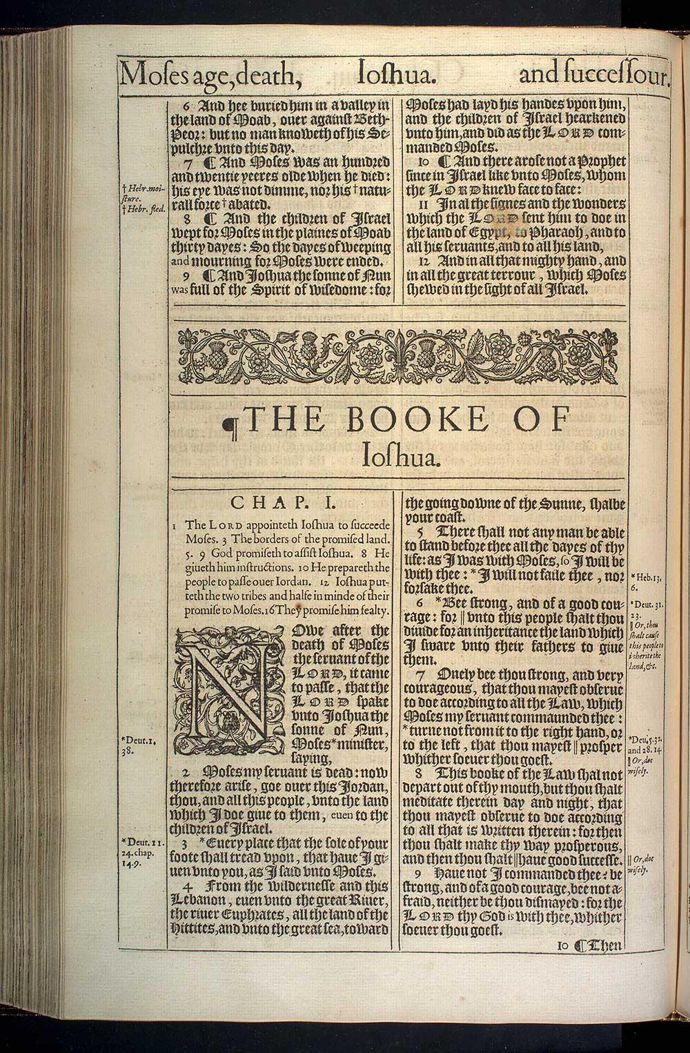 Deuteronomy Chapter 34 Original 1611 Bible Scan