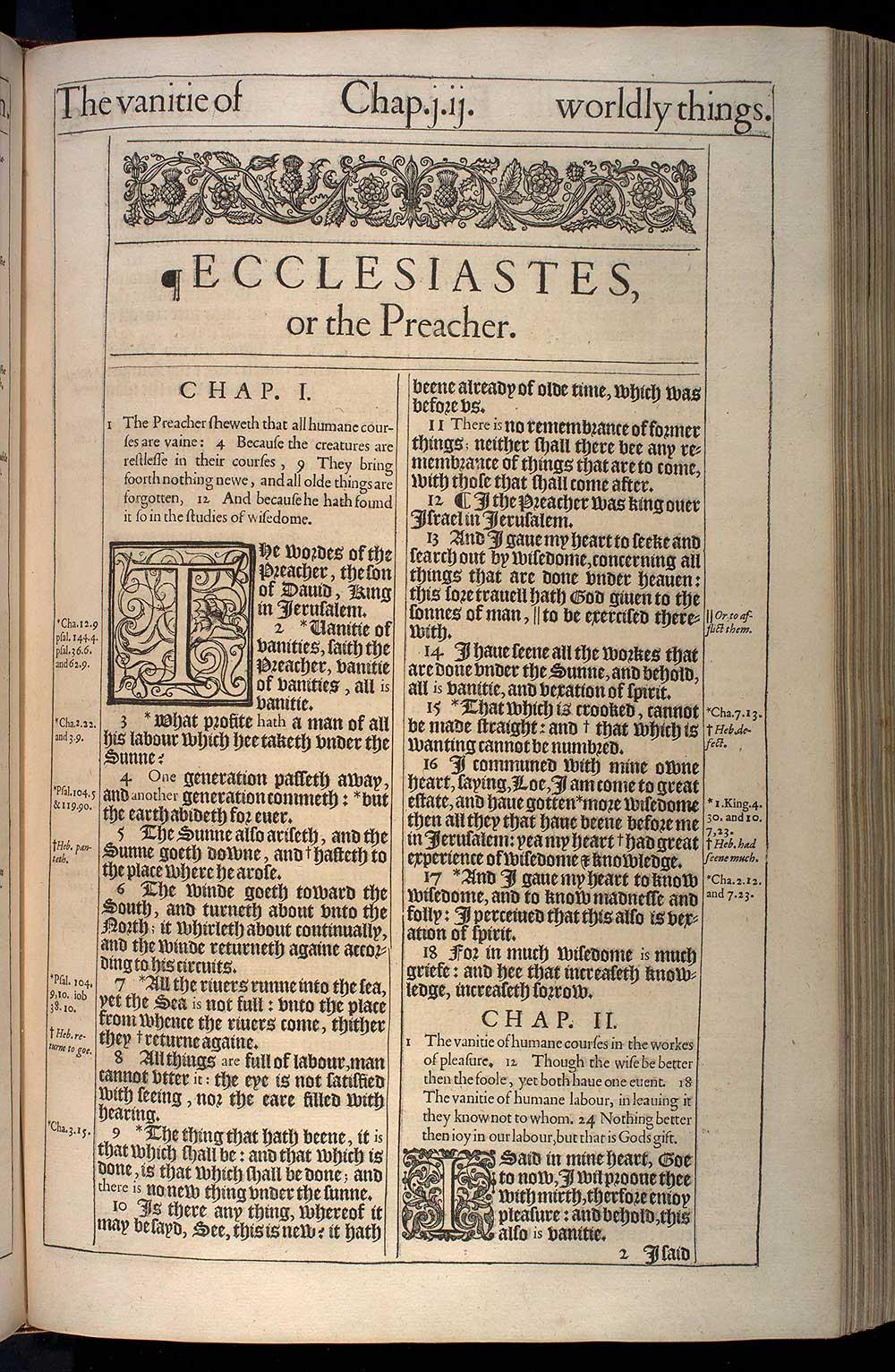 Ecclesiastes Chapter 2 Original 1611 Bible Scan