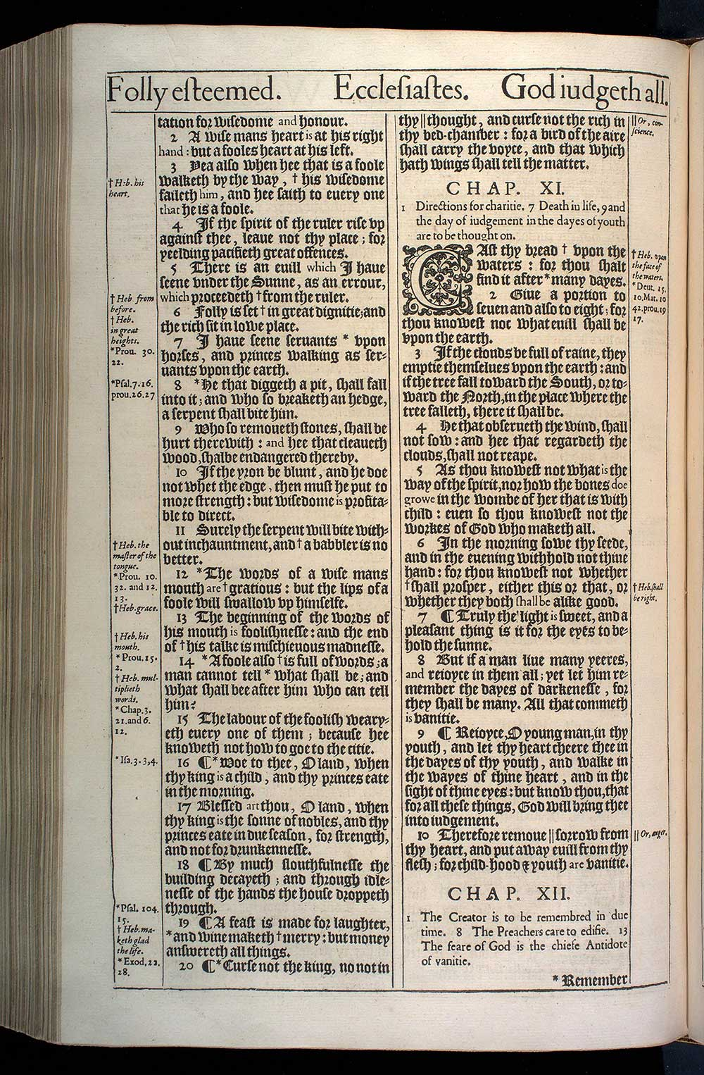 Ecclesiastes Chapter 11 Original 1611 Bible Scan