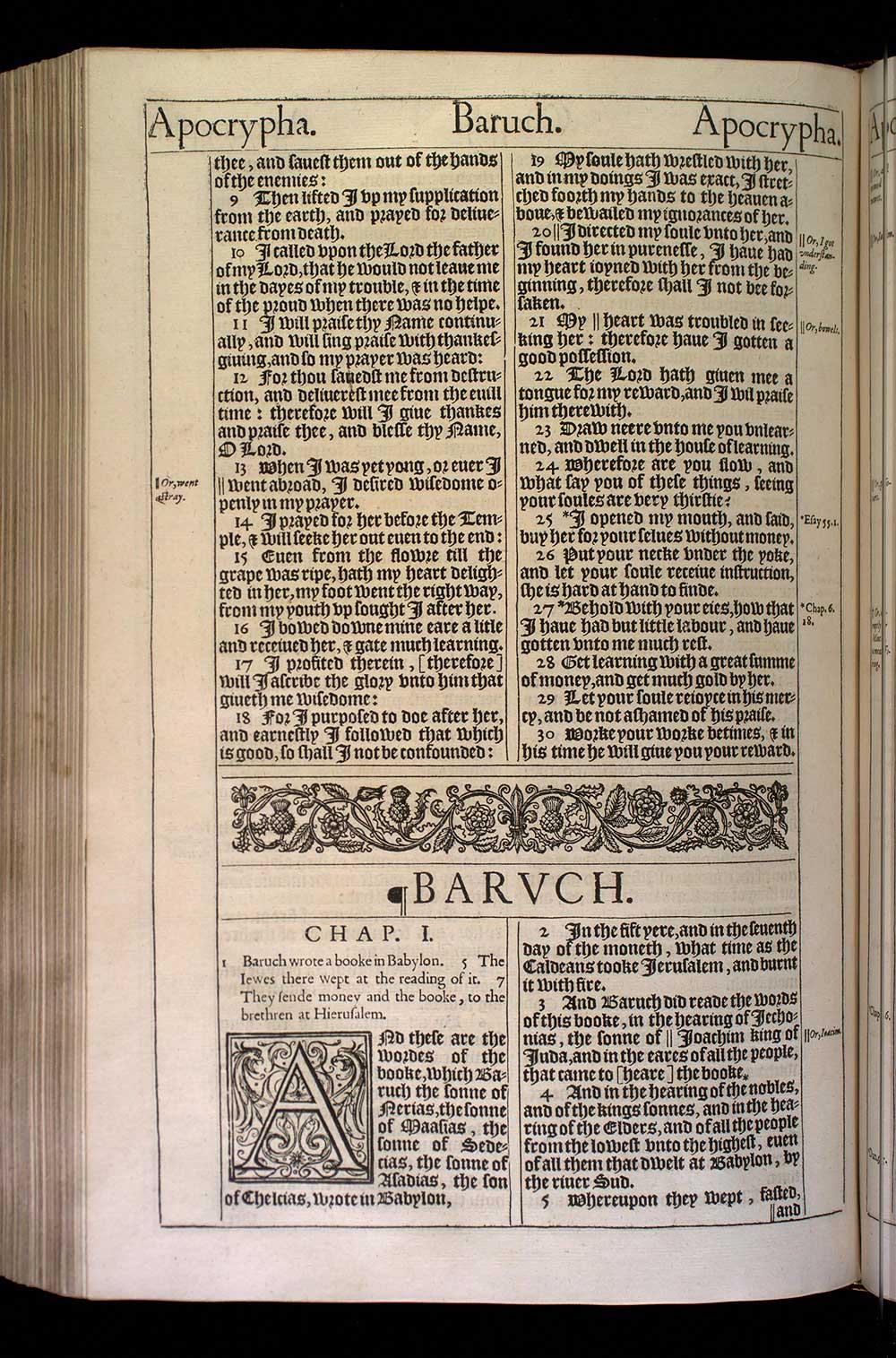 Baruch Chapter 1 Original 1611 Bible Scan