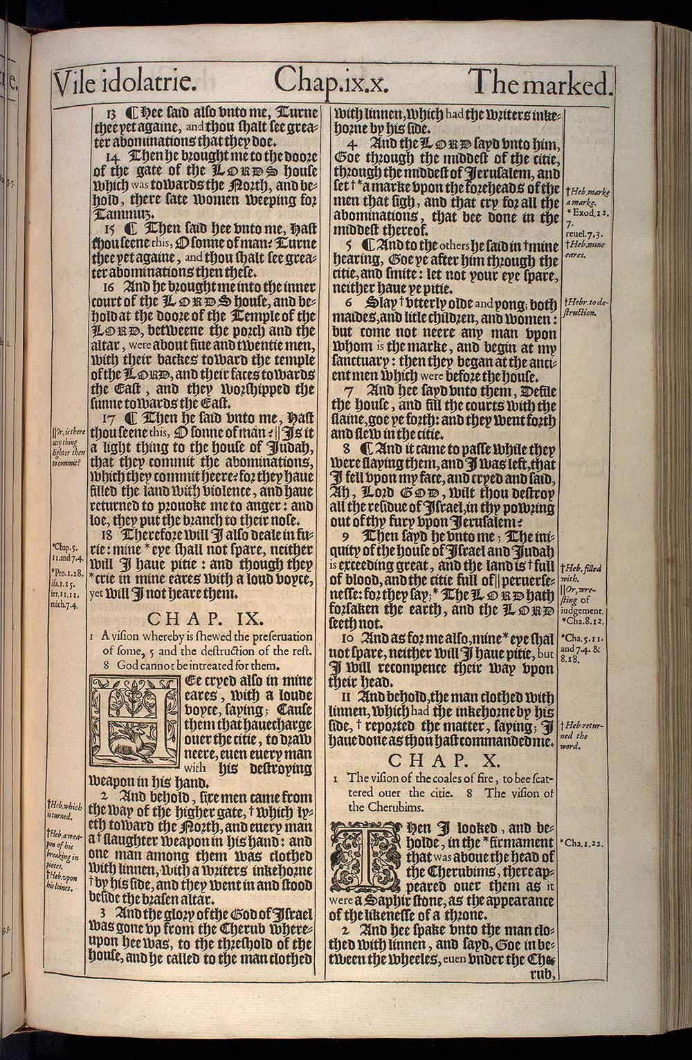 Ezekiel Chapter 9 Original 1611 Bible Scan