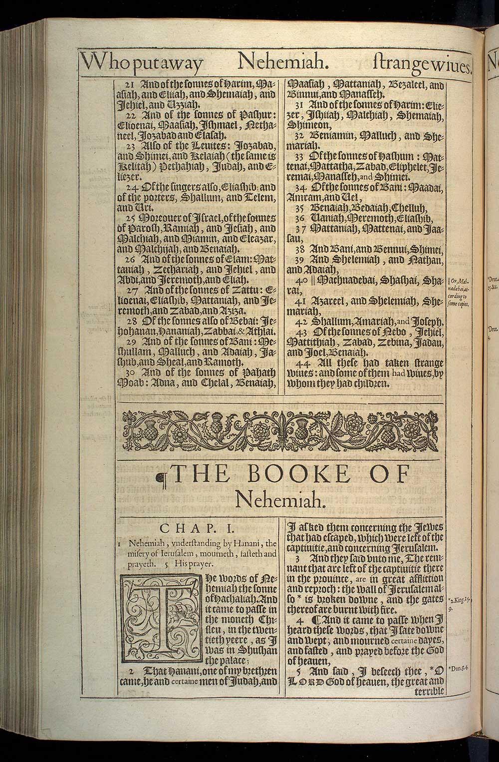 Ezra Chapter 10 Original 1611 Bible Scan