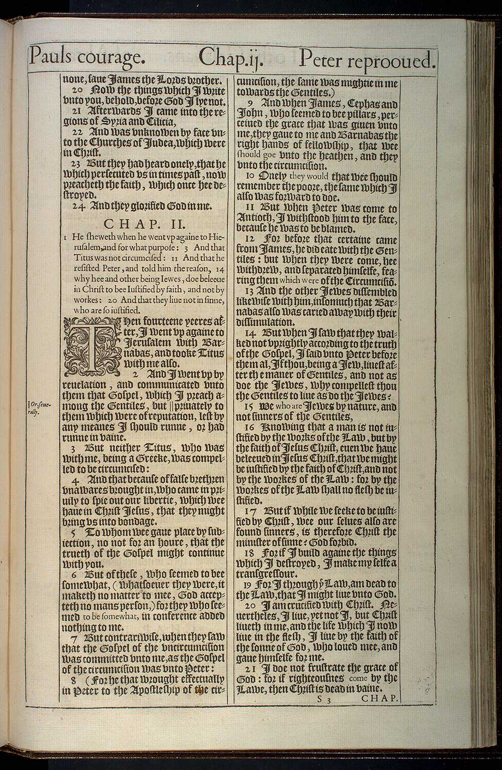 Galatians Chapter 1 Original 1611 Bible Scan