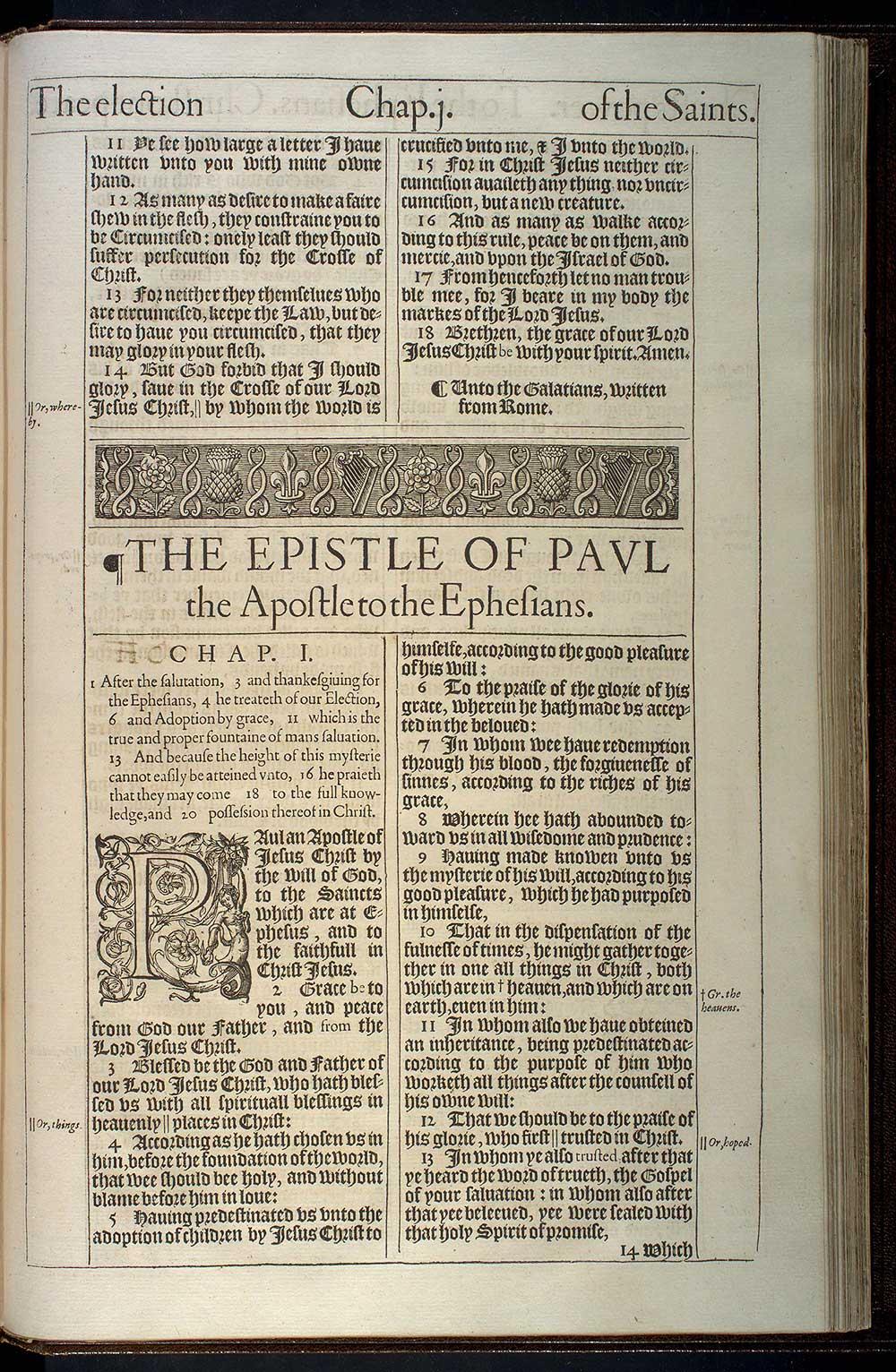Ephesians Chapter 1 Original 1611 Bible Scan