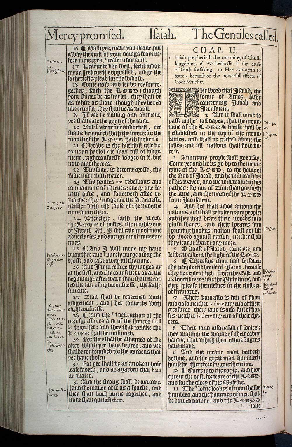 Isaiah Chapter 2 Original 1611 Bible Scan
