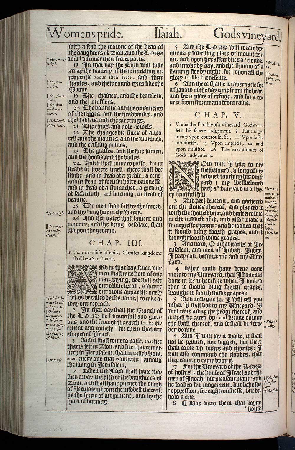 Isaiah Chapter 5 Original 1611 Bible Scan