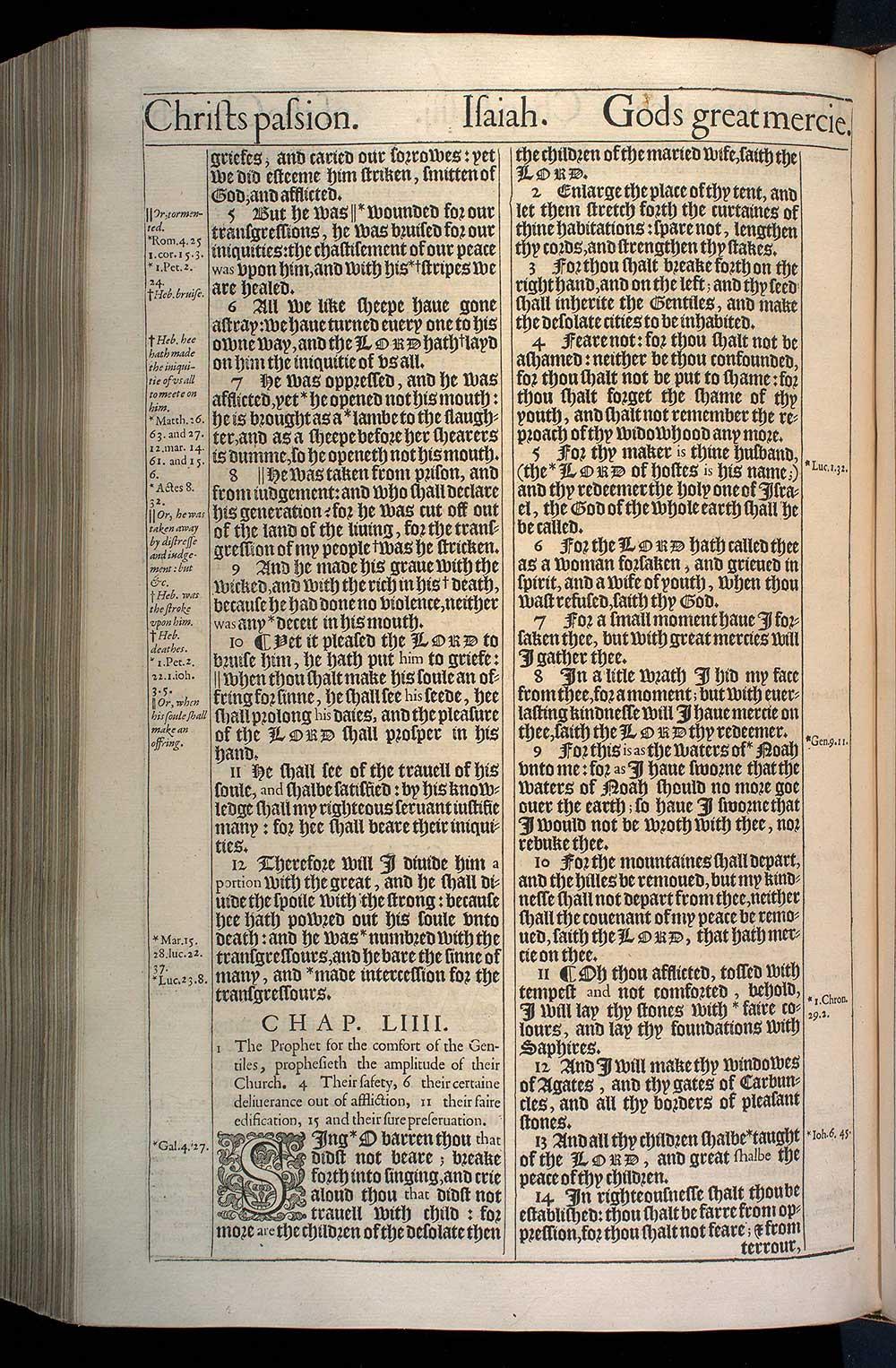 Isaiah Chapter 53 Original 1611 Bible Scan