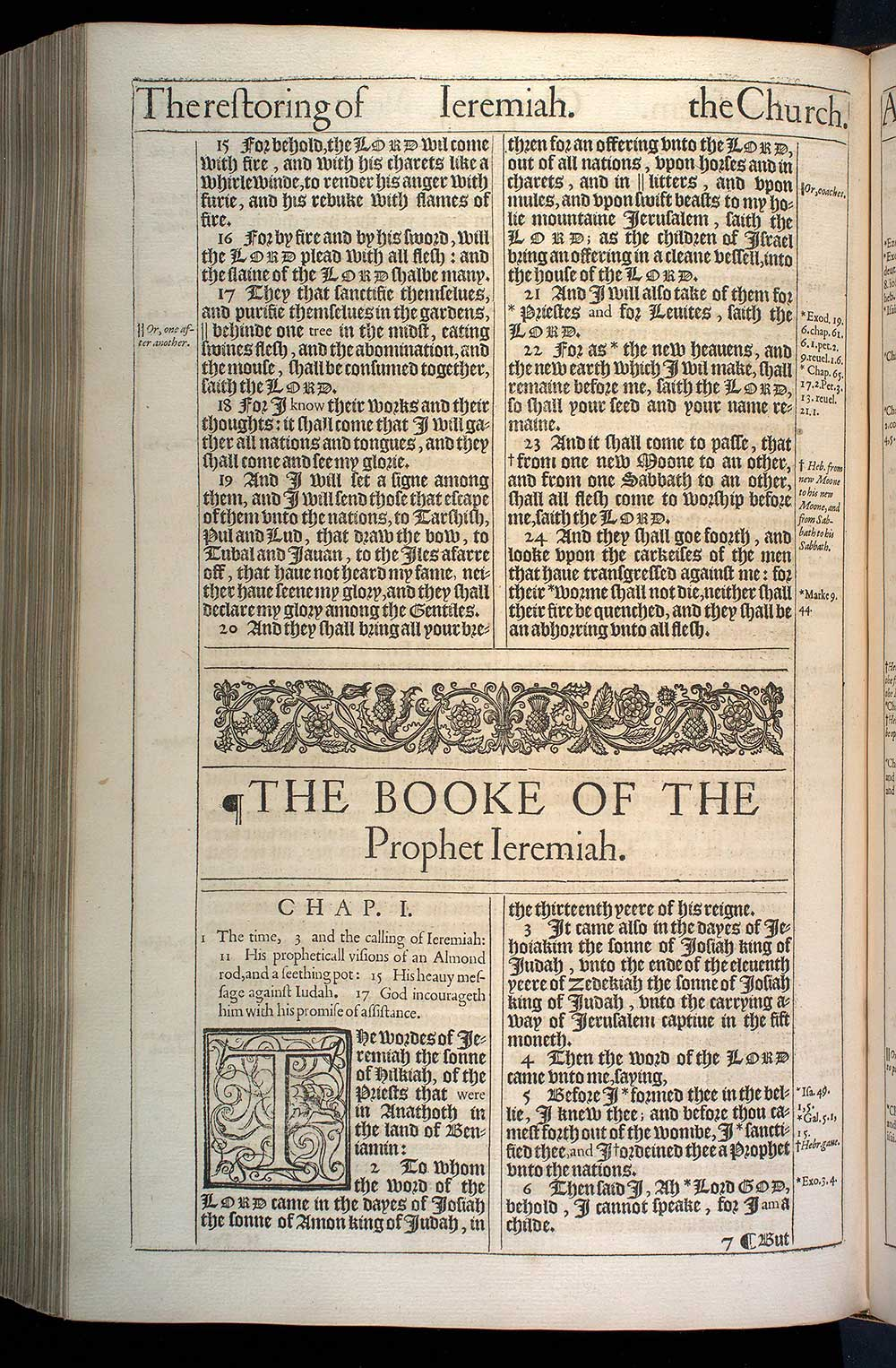 Jeremiah Chapter 1 Original 1611 Bible Scan