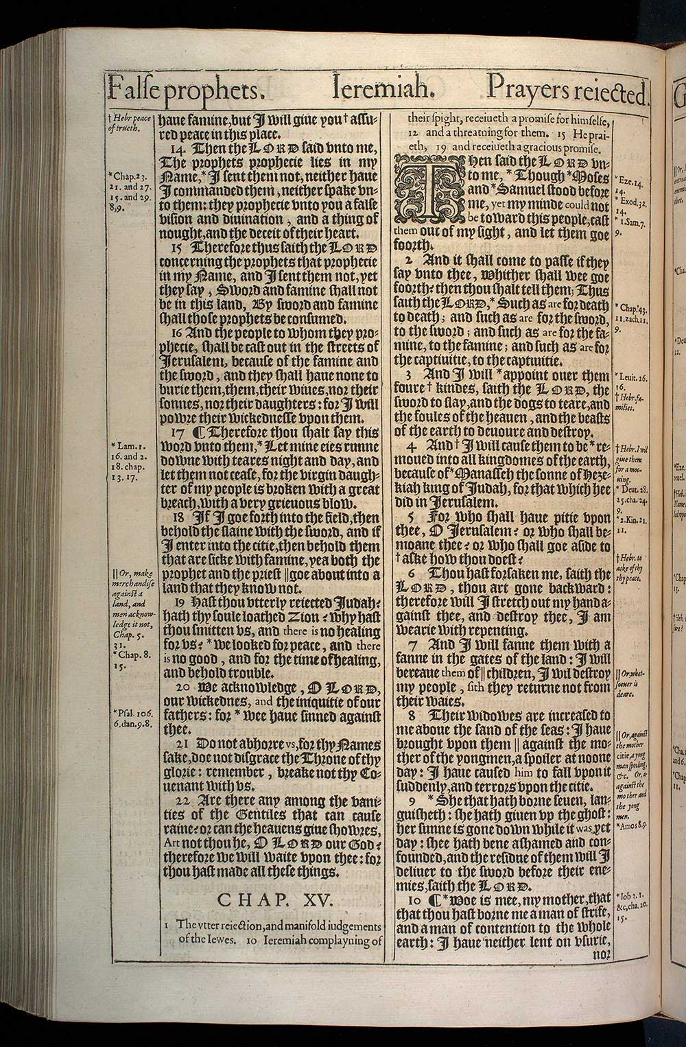 Jeremiah Chapter 15 Original 1611 Bible Scan