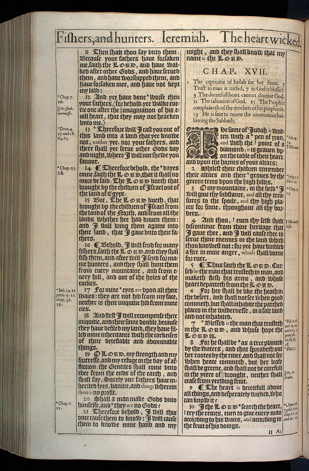 Jeremiah Chapter 16 Original 1611 Bible Scan