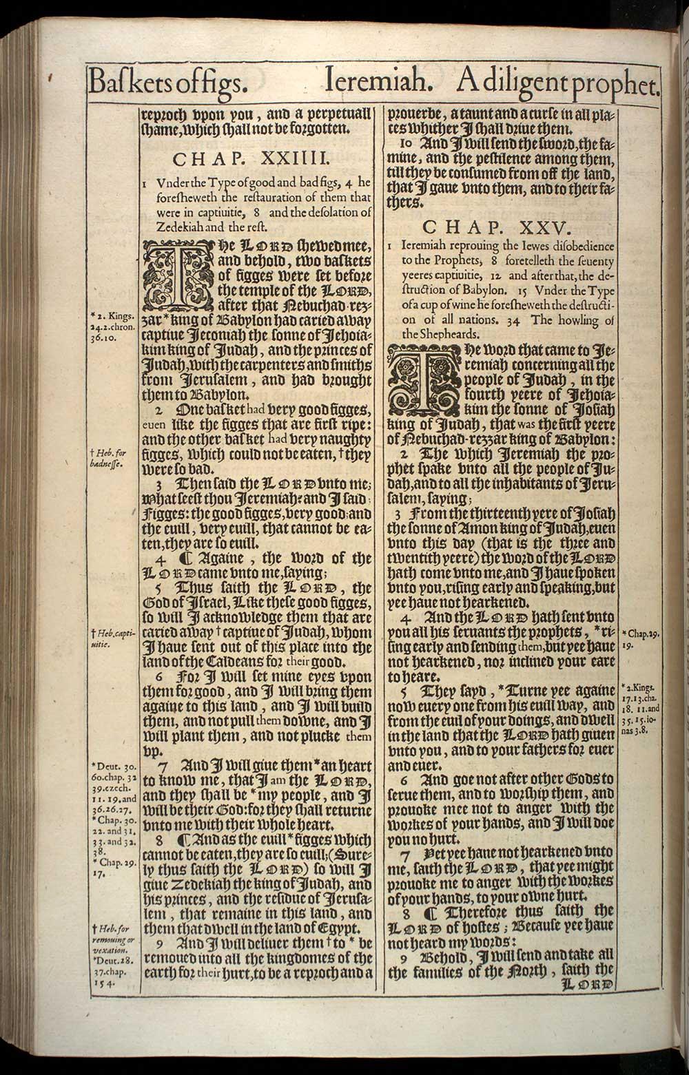 Jeremiah Chapter 23 Original 1611 Bible Scan