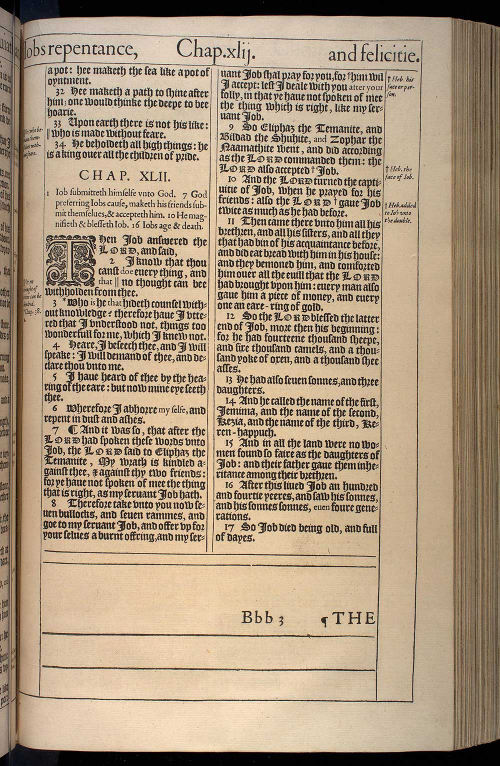 Job Chapter 41 Original 1611 Bible Scan