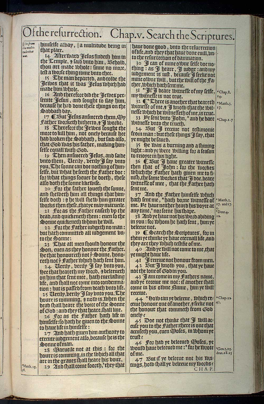 John Chapter 5 Original 1611 Bible Scan
