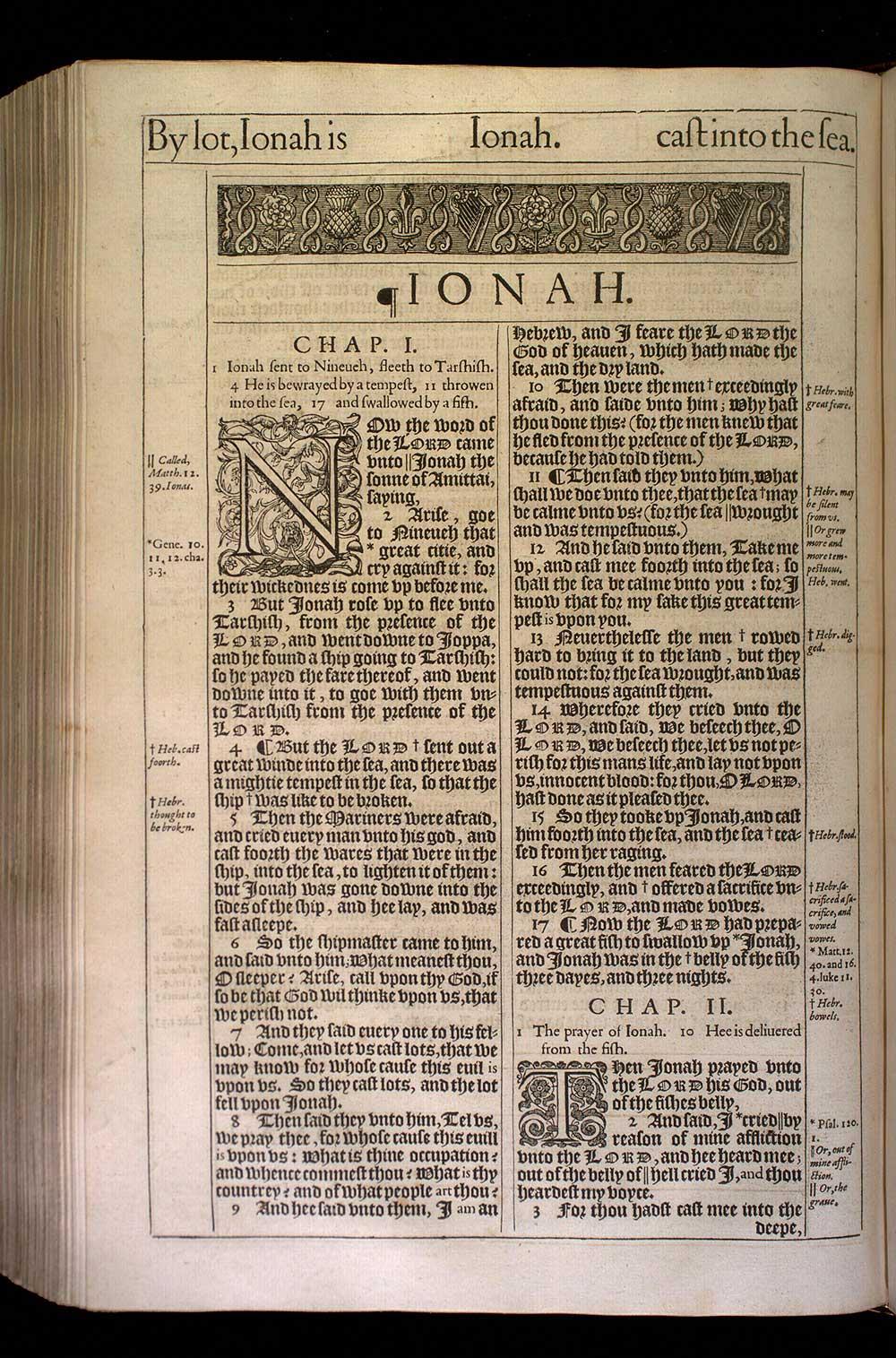 Jonah Chapter 1 Original 1611 Bible Scan