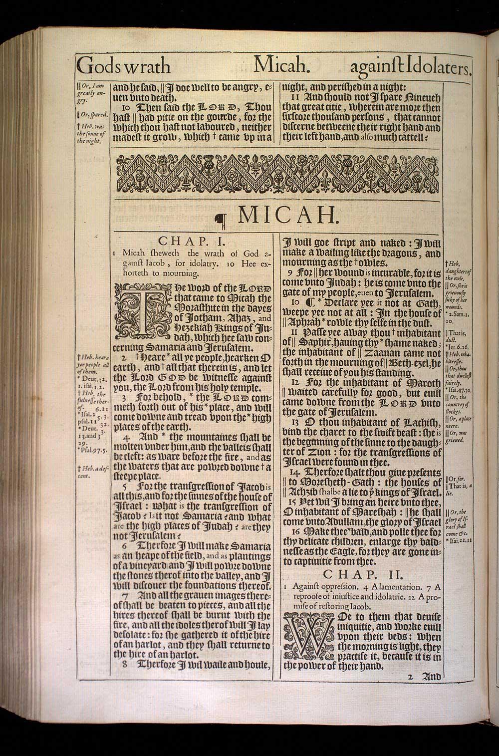 Micah Chapter 1 Original 1611 Bible Scan