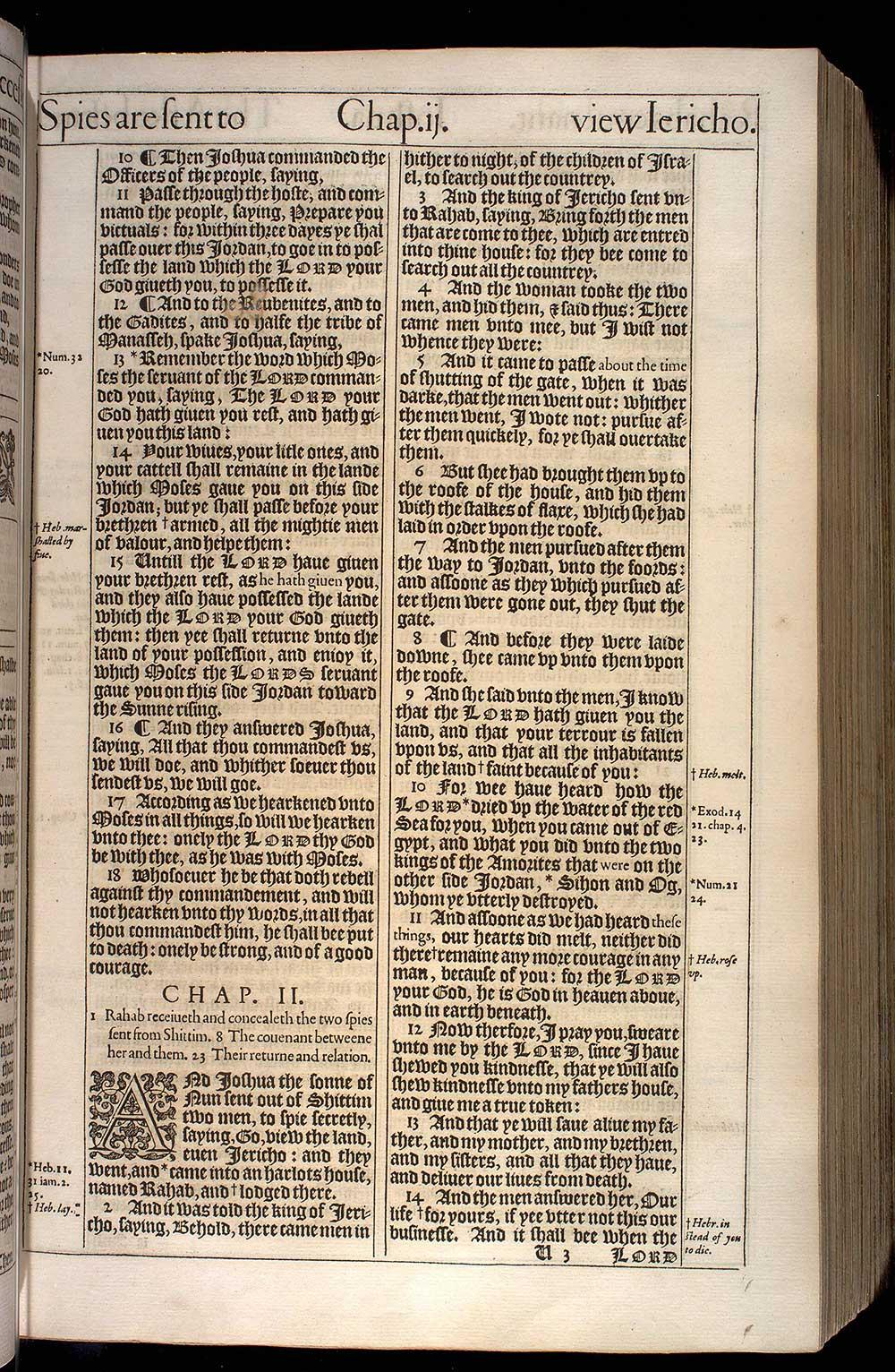 Joshua Chapter 1 Original 1611 Bible Scan
