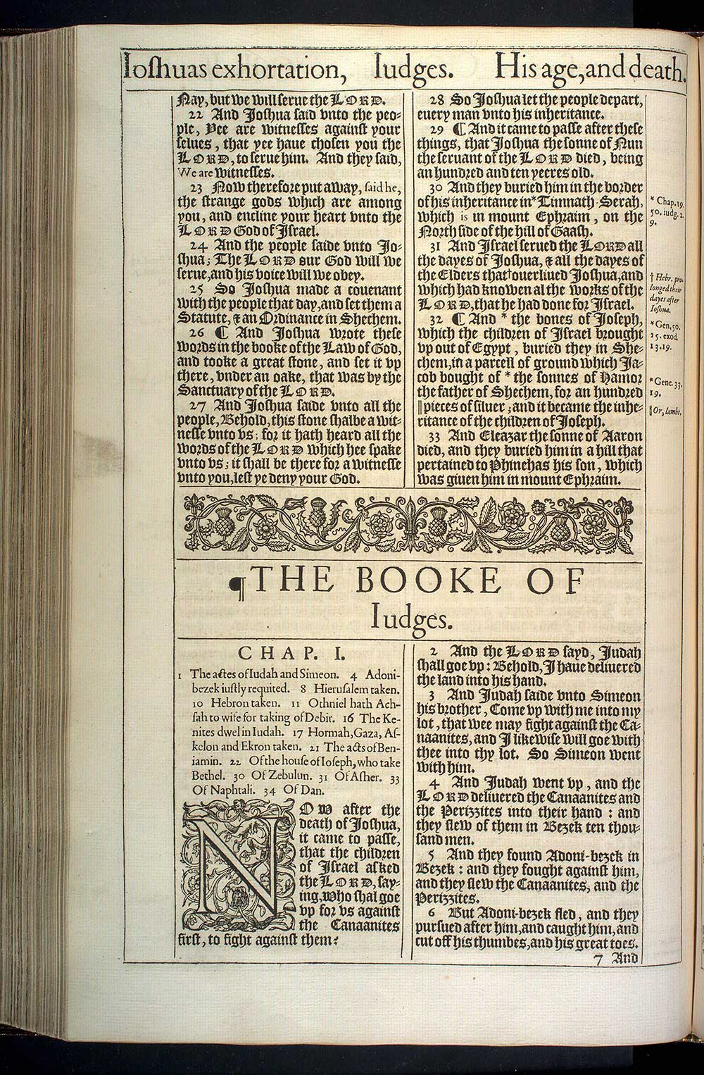 Judges Chapter 1 Original 1611 Bible Scan