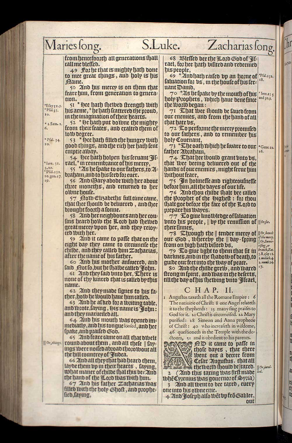 Luke Chapter 1 Original 1611 Bible Scan