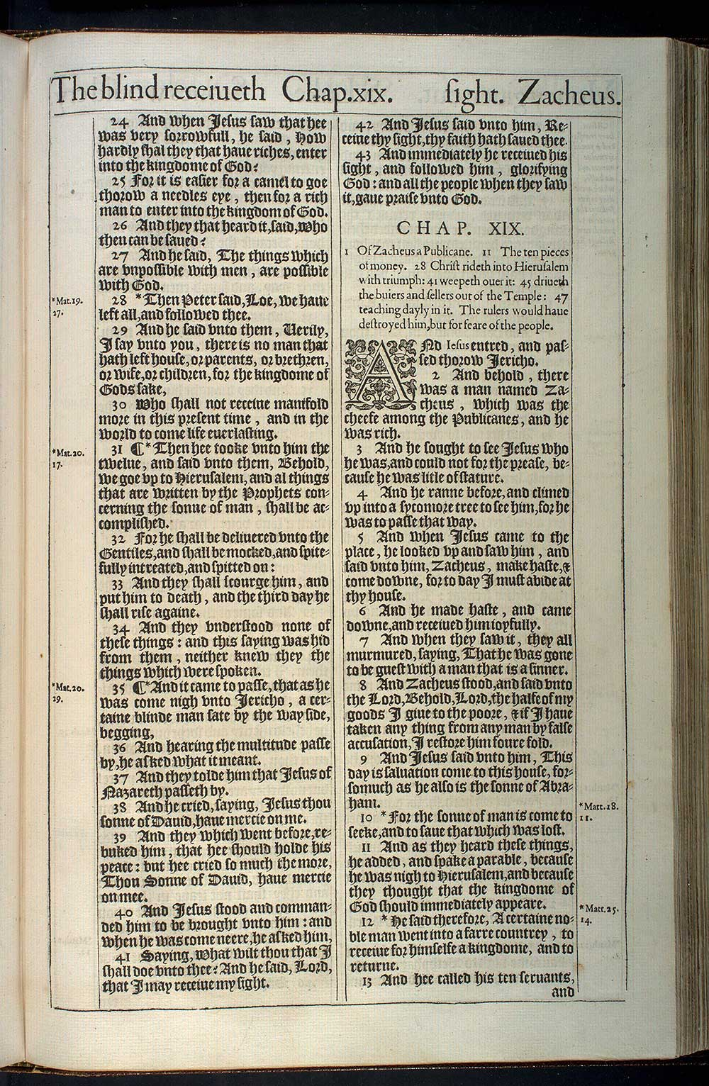 Luke Chapter 18 Original 1611 Bible Scan