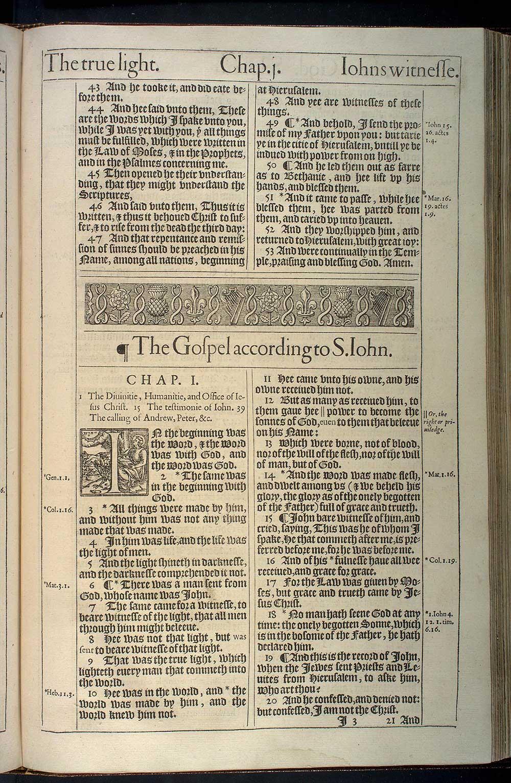 John Chapter 1 Original 1611 Bible Scan