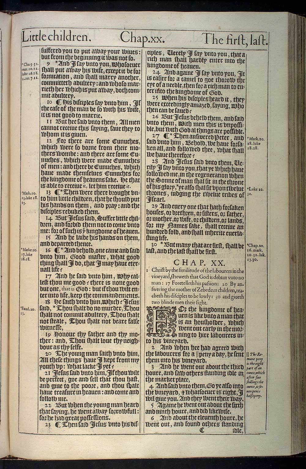 Matthew Chapter 20 Original 1611 Bible Scan