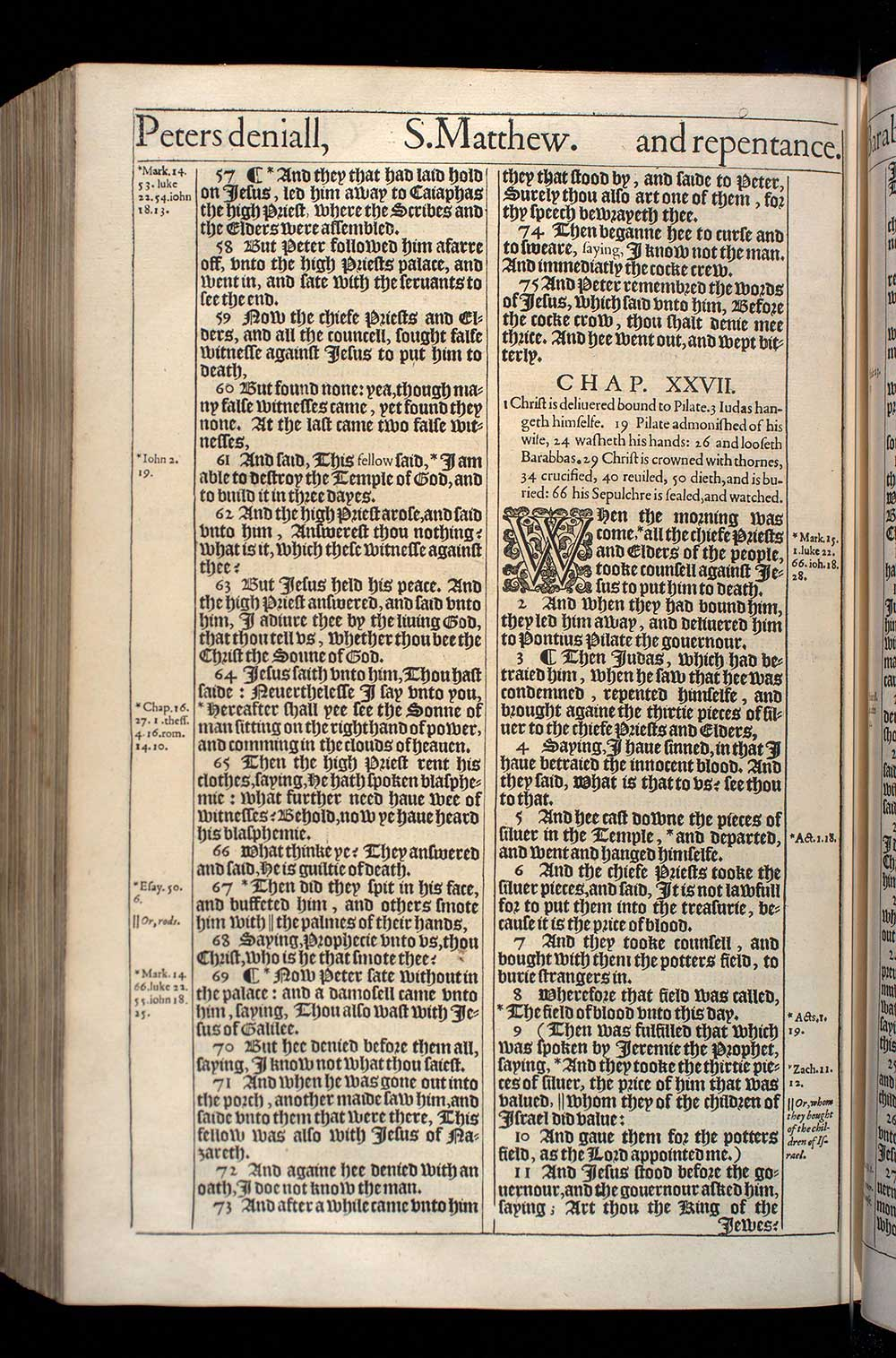 Matthew Chapter 26 Original 1611 Bible Scan