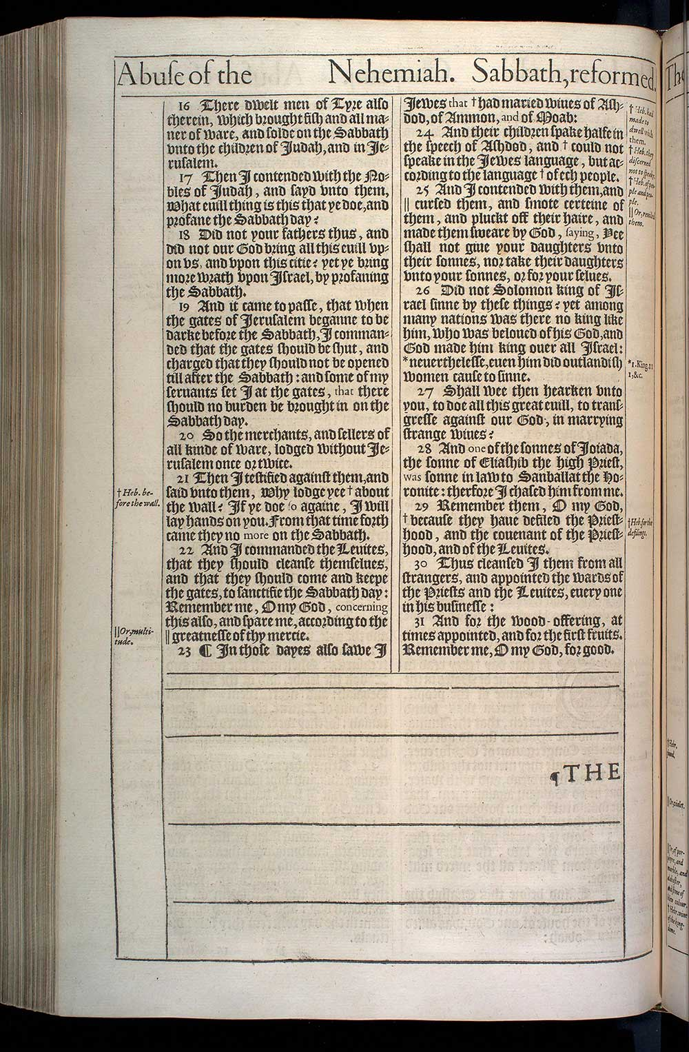 Sabbath Reforms Nehemiah 13 15 22