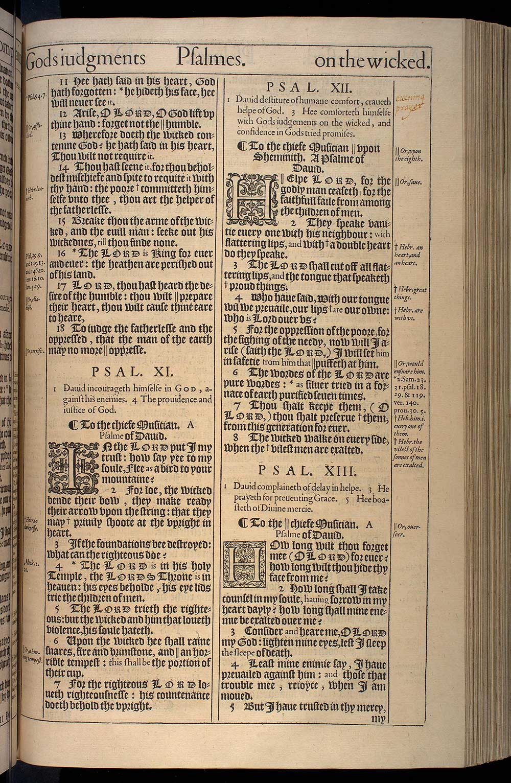 Psalms Chapter 10 Original 1611 Bible Scan