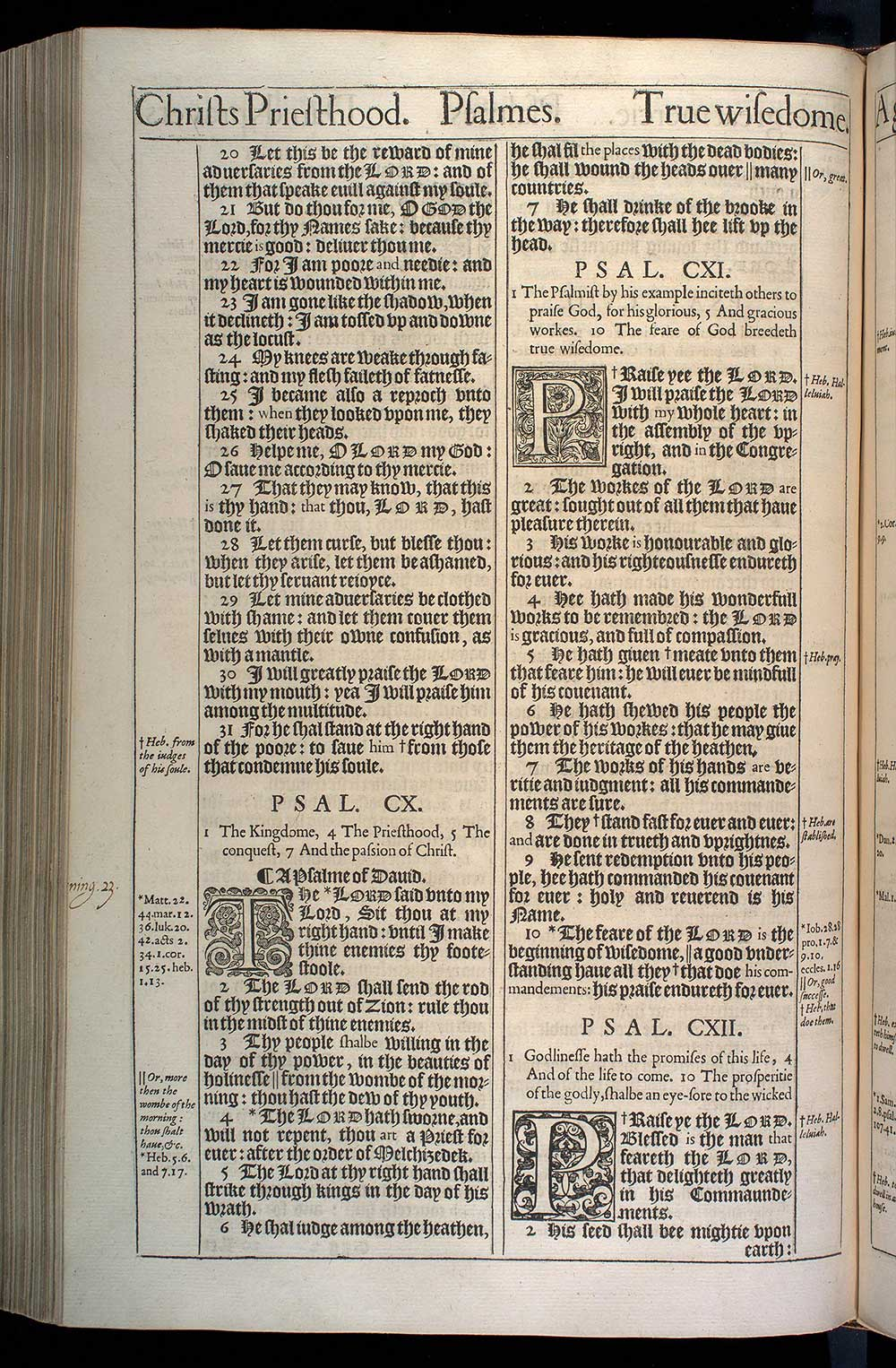Psalms Chapter 111 Original 1611 Bible Scan