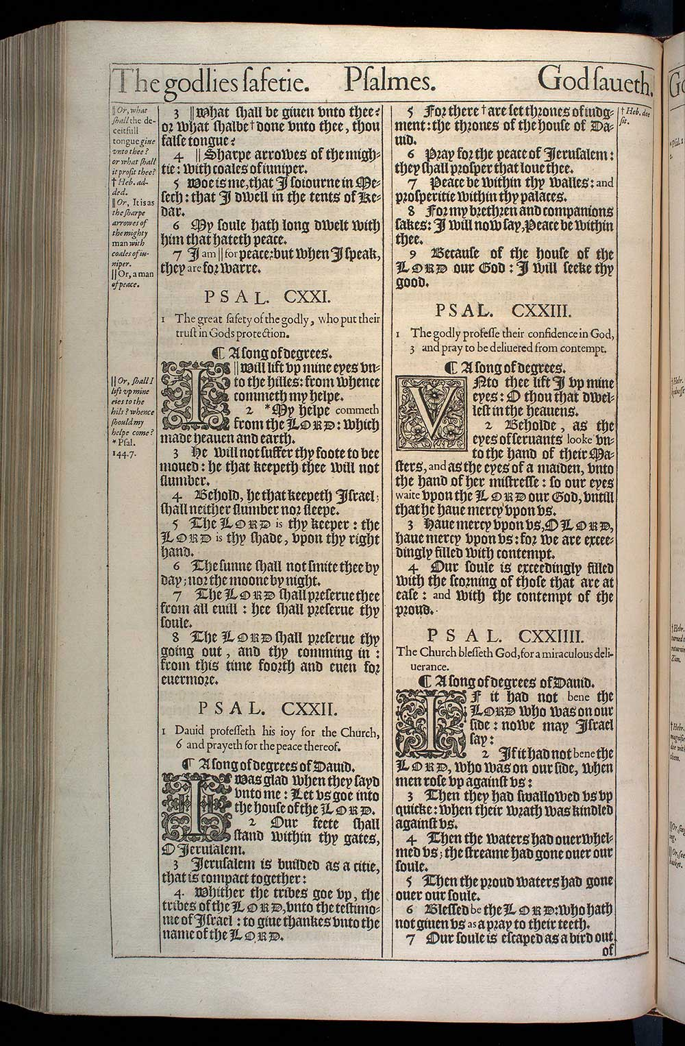 Psalms Chapter 121 Original 1611 Bible Scan