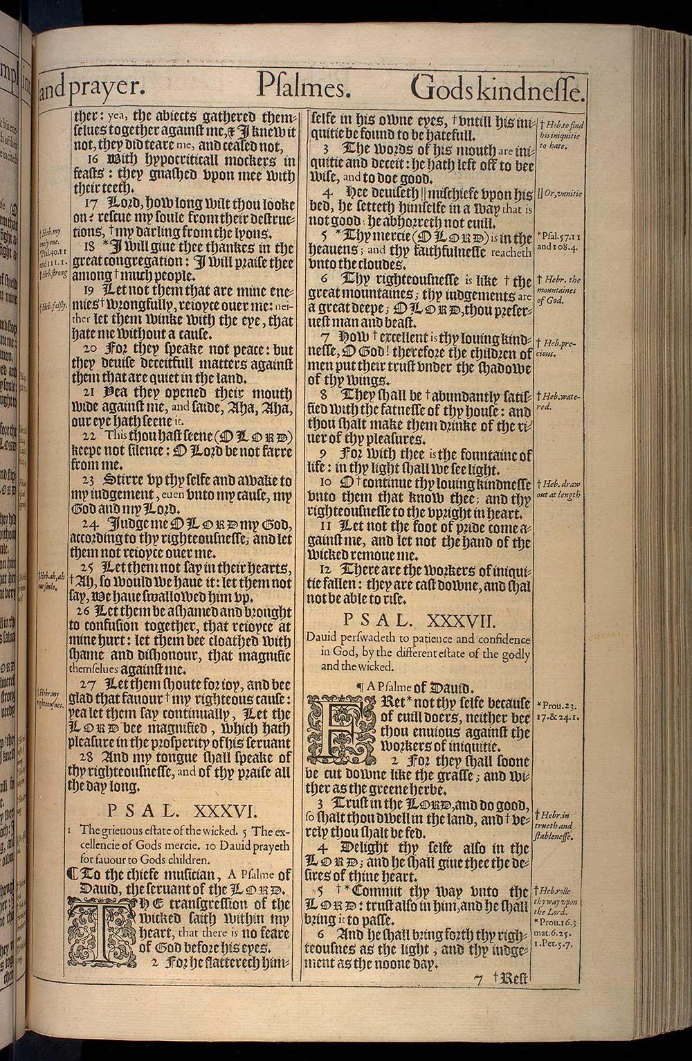 Psalms Chapter 36 Original 1611 Bible Scan