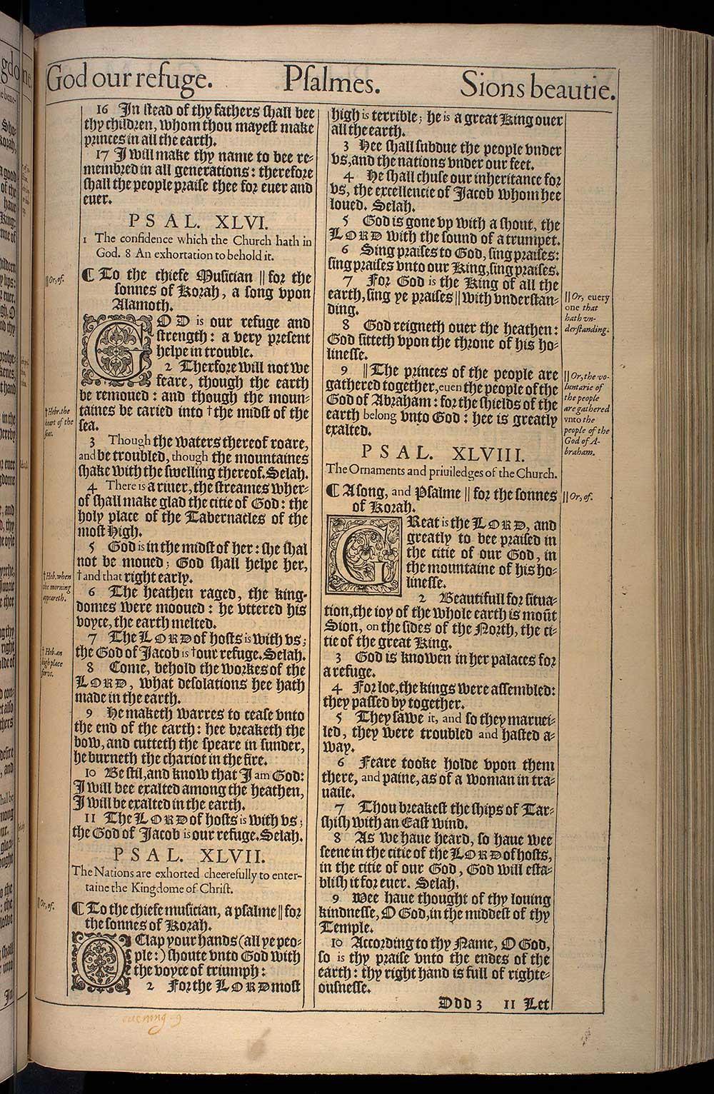 Psalms Chapter 46 Original 1611 Bible Scan