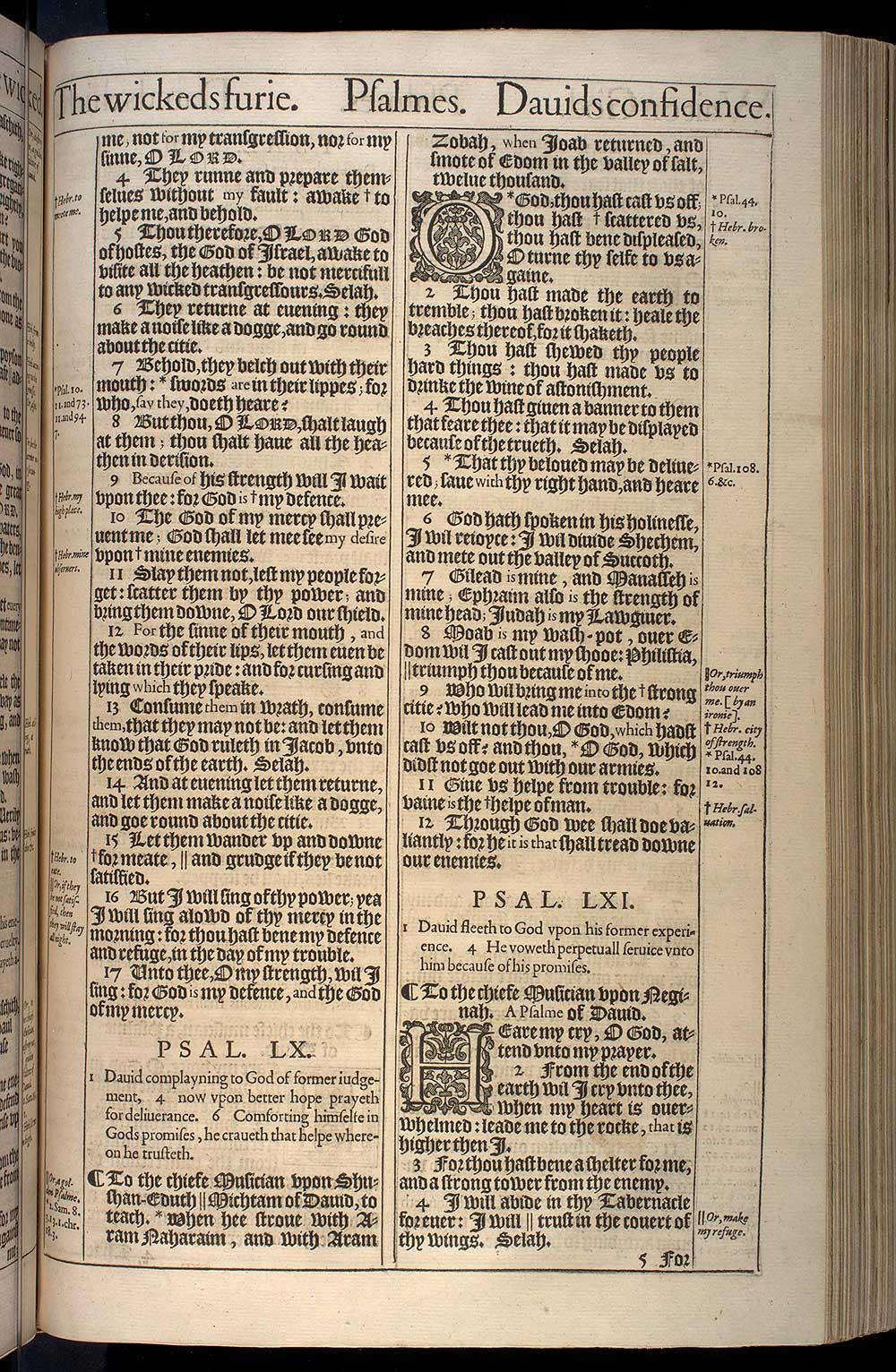Psalms Chapter 61 Original 1611 Bible Scan