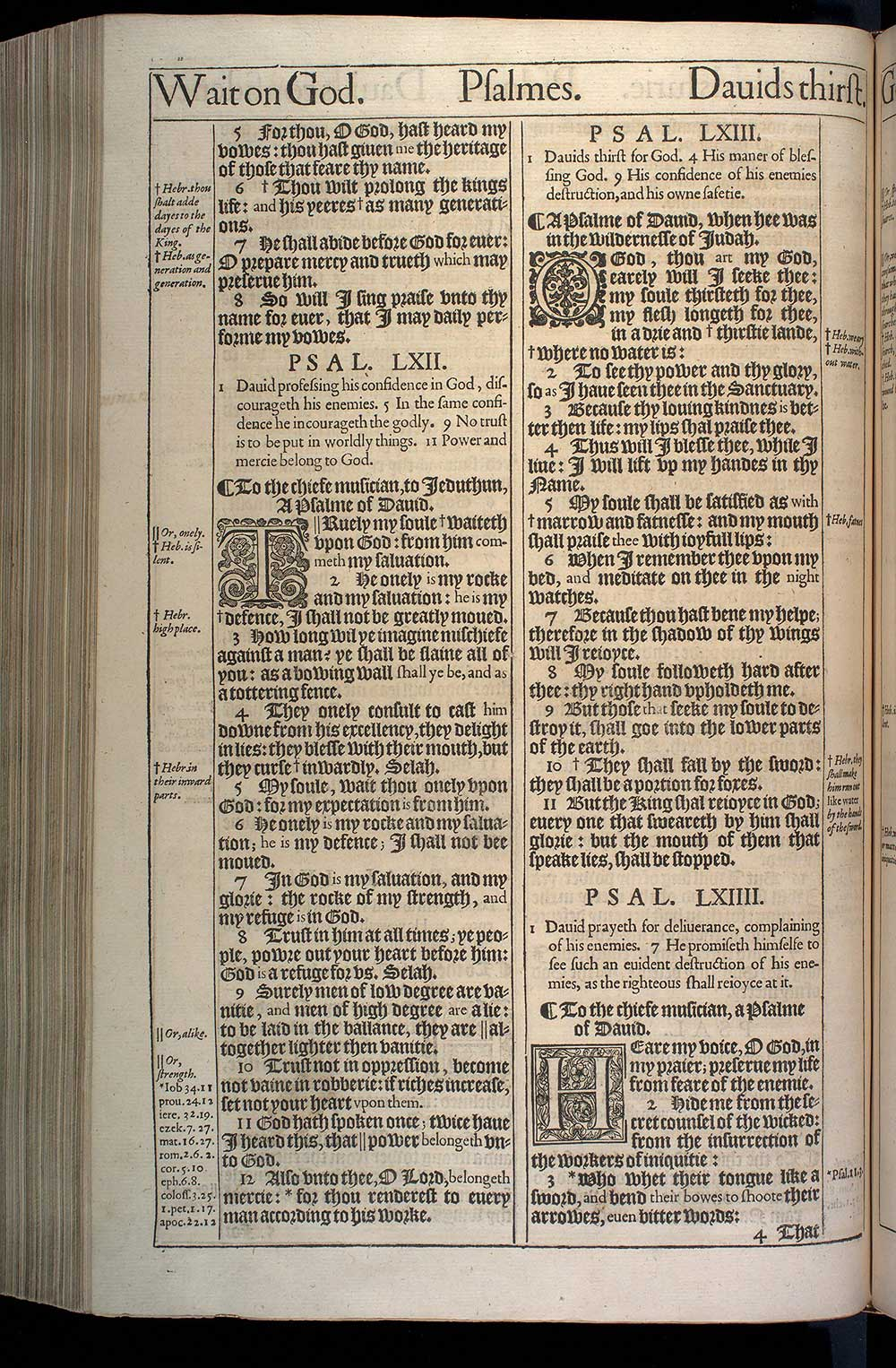 Psalms Chapter 64 Original 1611 Bible Scan