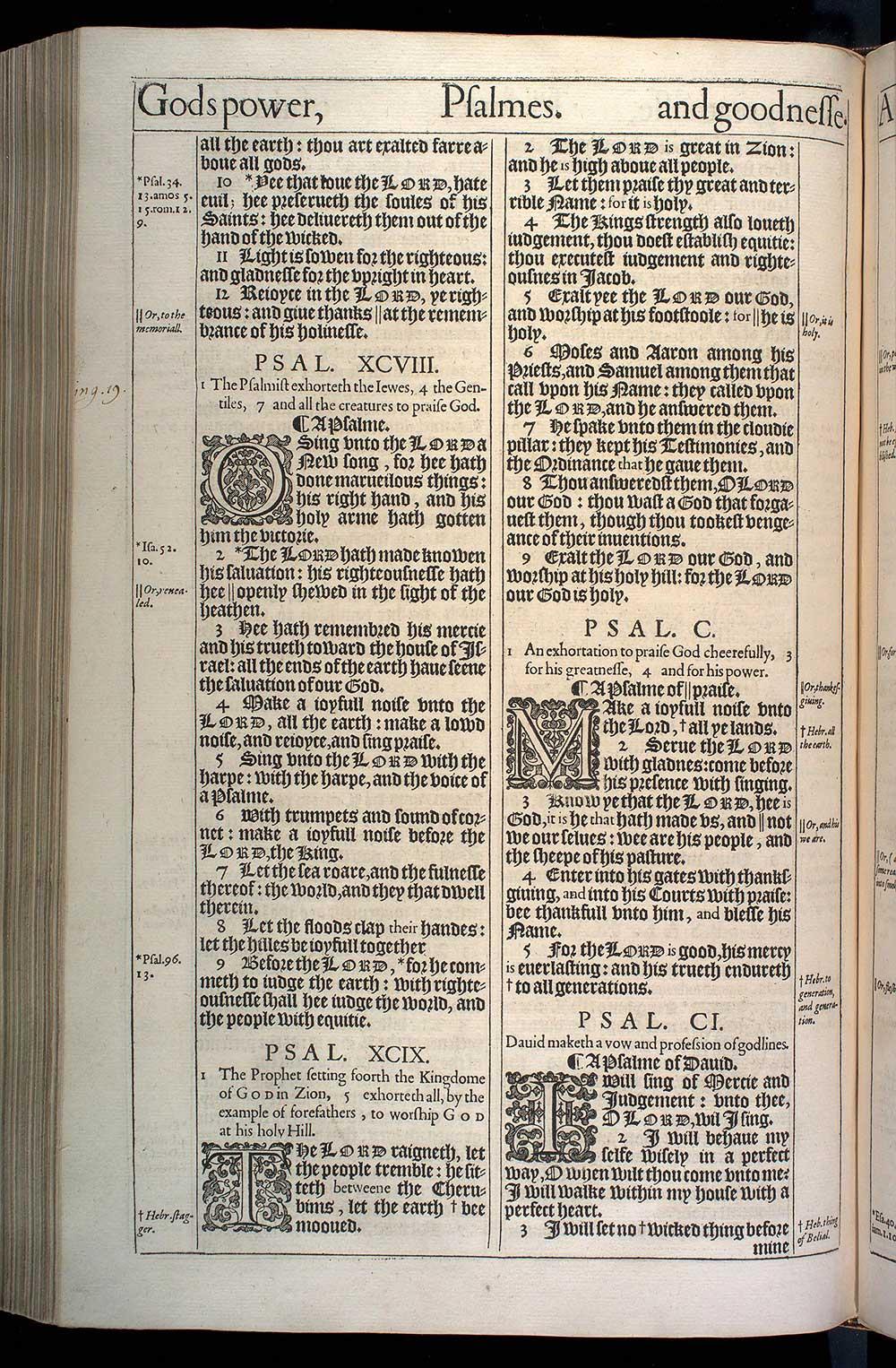 Psalms Chapter 97 Original 1611 Bible Scan