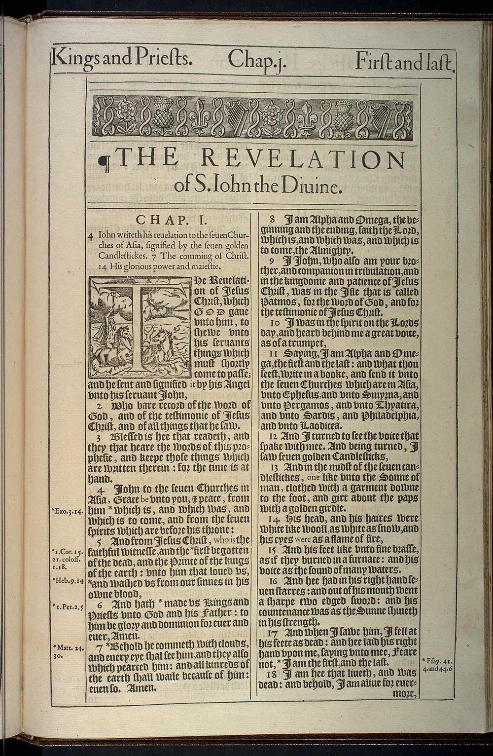 Revelation Chapter 1 Original 1611 Bible Scan