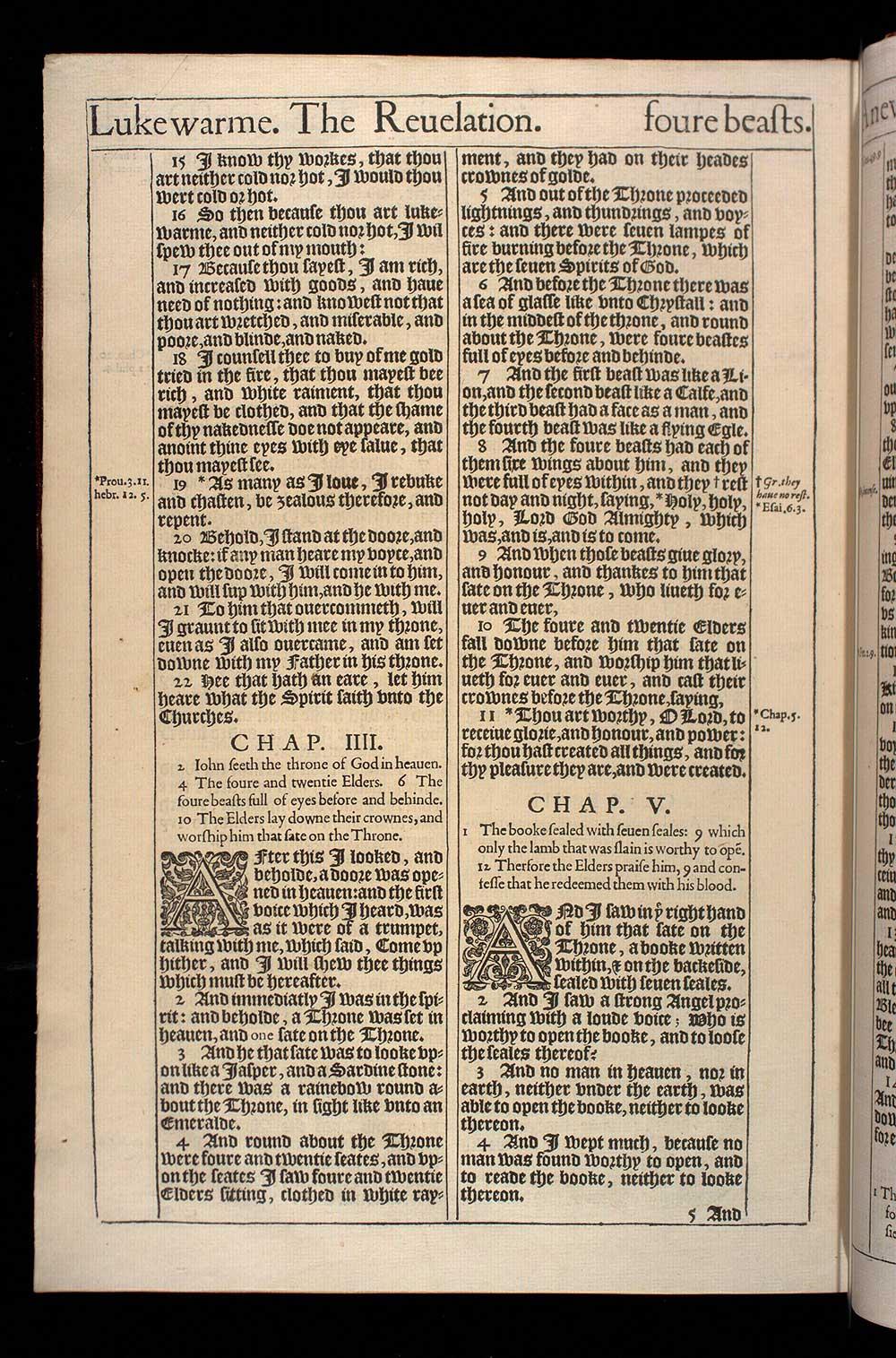 Revelation Chapter 5 Original 1611 Bible Scan